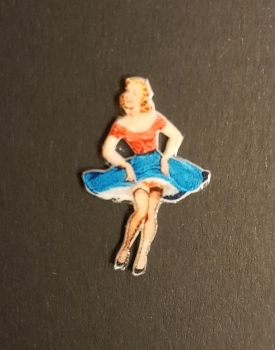 1:14 Kühlerfigur Old School Pin-Up Girl