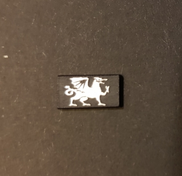 "1:14 Schild ""Welsh Dragon"""