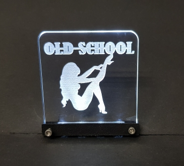 """Old School"" Version I Innenraumlogo"