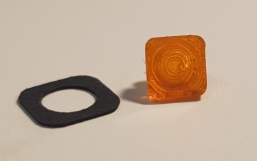 2er Set Positionsleuchte / Blinker / Frontblitzer, orange 5x5 mm, Version 106