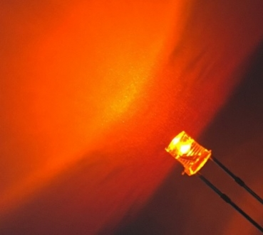 3mm LED Flat Top Amber 3 Volt / 20 mA